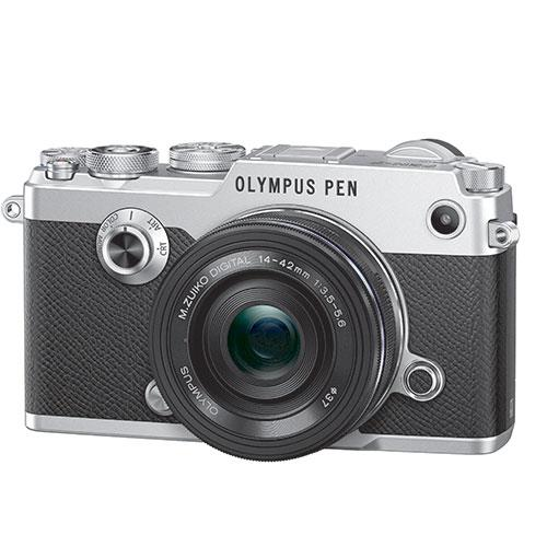 PEN-F Mirrorless Camera in Silver + 14-42mm f/3.5-5.6 Lens   Product Image (Secondary Image 1)