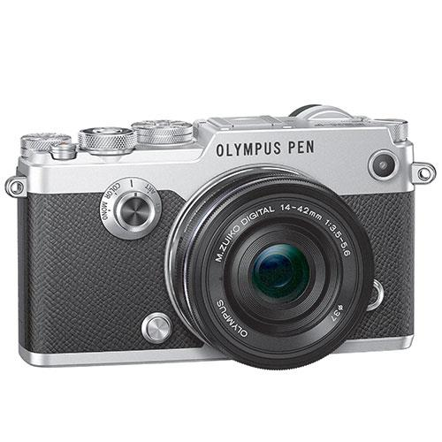 PEN-F Mirrorless Camera in Silver + 14-42mm f/3.5-5.6 Lens   Product Image (Secondary Image 3)
