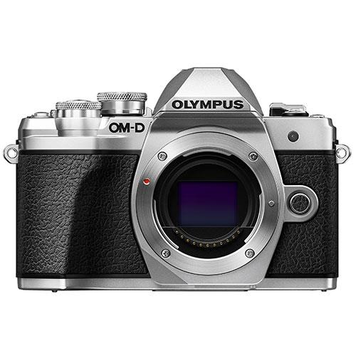 OM-D E-M10 Mark III Mirrorless Camera Body in Silver Product Image (Primary)