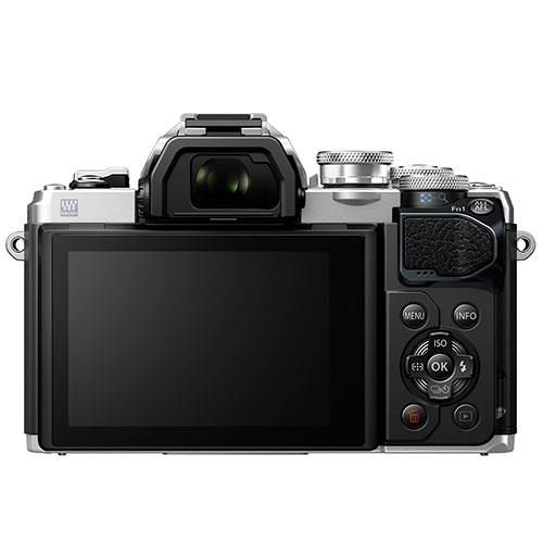OM-D E-M10 Mark III Mirrorless Camera Body in Silver Product Image (Secondary Image 2)