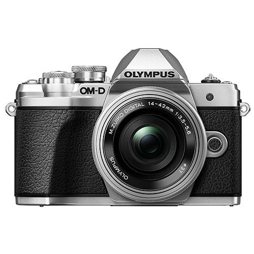 OM-D E-M10 Mark III Mirrorless Camera in Silver with 14-42mm EZ Lens Product Image (Secondary Image 1)