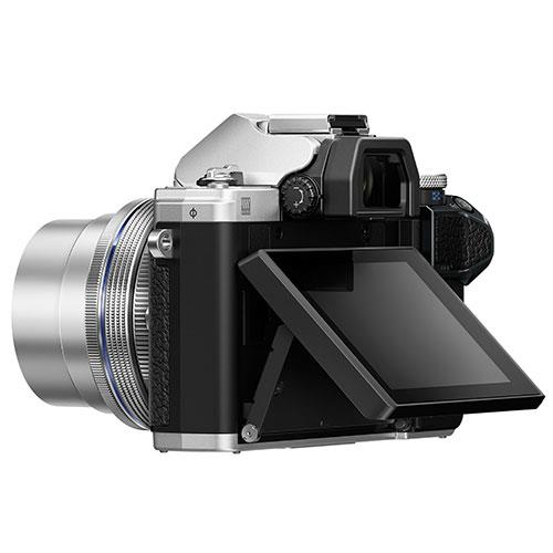 OM-D E-M10 Mark III Mirrorless Camera in Silver with 14-42mm EZ Lens Product Image (Secondary Image 2)