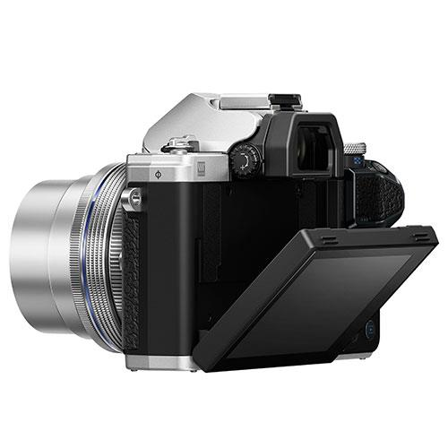 OM-D E-M10 Mark III Mirrorless Camera in Silver with 14-42mm EZ Lens Product Image (Secondary Image 3)