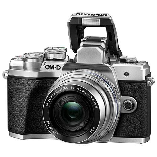 OM-D E-M10 Mark III Mirrorless Camera in Silver with 14-42mm EZ Lens Product Image (Secondary Image 4)