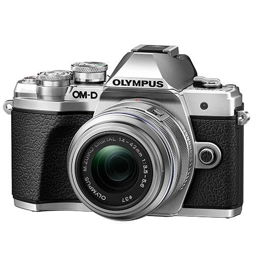 OM-D E-M10 Mark III Mirrorless Camera in Silver with 14-42mm R Lens Product Image (Primary)