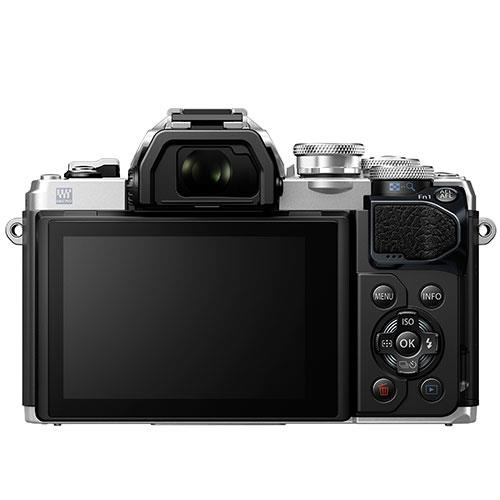OM-D E-M10 Mark III Mirrorless Camera in Silver with 14-42mm R Lens Product Image (Secondary Image 1)