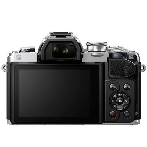 OM-D E-M10 Mark III Mirrorless Camera in Silver with 14-42mm and 40-150mm Lenses Product Image (Secondary Image 1)