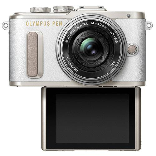 Olympus PEN E-PL8 Mirrorless Camera in White with 14-42mm EZ Lens - Ex Display Product Image (Secondary Image 3)