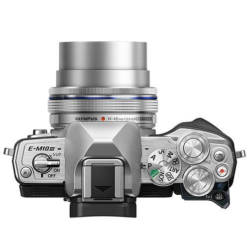 OM-D E-M10 Mark III Mirrorless Camera in Silver with 14-42mm EZ Lens - Ex Display Product Image (Secondary Image 4)