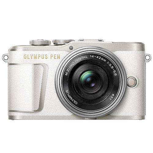 PEN E-PL9 Mirrorless Camera in White with 14-42mm EZ Lens - Ex Display Product Image (Primary)