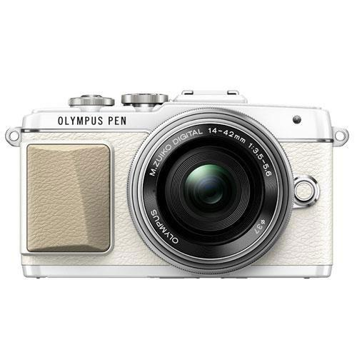 PEN E-PL7 Mirrorless Camera in White with 14-42mm EZ Lens - Ex Display Product Image (Primary)