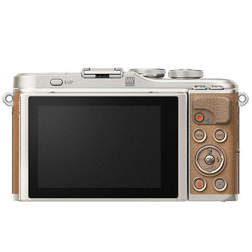 PEN E-PL9 Mirrorless Camera in Brown with 14-42mm EZ Lens - Ex Display Product Image (Secondary Image 1)