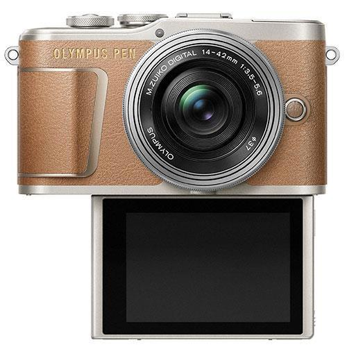 PEN E-PL9 Mirrorless Camera in Brown with 14-42mm EZ Lens - Ex Display Product Image (Secondary Image 2)