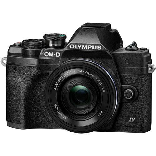 OM-D E-M10 Mark IV Mirrorless Camera in Black with 14-42mm F/3.5-5.6 Lens Product Image (Primary)