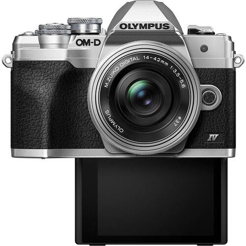 OM-D E-M10 Mark IV Mirrorless Camera in Silver with 14-42mm F/3.5-5.6 Lens Product Image (Secondary Image 2)