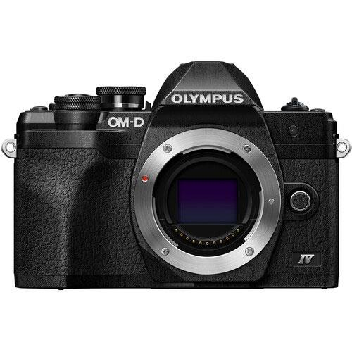 OM-D E-M10 Mark IV Mirrorless Camera Body in Black Product Image (Primary)