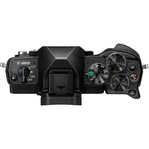 OM-D E-M10 Mark IV Mirrorless Camera Body in Black Product Image (Secondary Image 3)