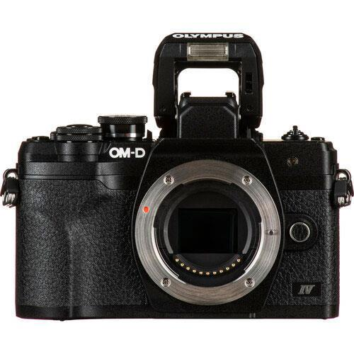 OM-D E-M10 Mark IV Mirrorless Camera Body in Black Product Image (Secondary Image 4)