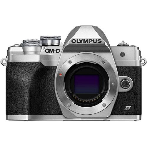 OM-D E-M10 Mark IV Mirrorless Camera Body in Silver Product Image (Primary)