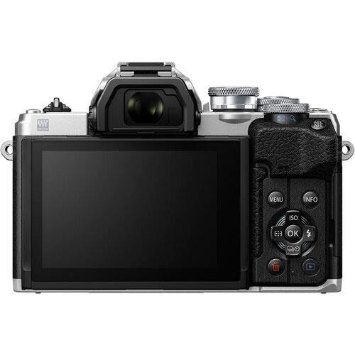OM-D E-M10 Mark IV Mirrorless Camera Body in Silver Product Image (Secondary Image 1)