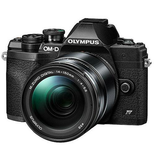 OM-D E-M10 Mark IV Mirrorless Camera in Black with 14-150mm Lens Product Image (Primary)