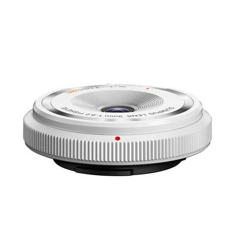 9mm f/8.0 Body Cap Lens in White Product Image (Primary)