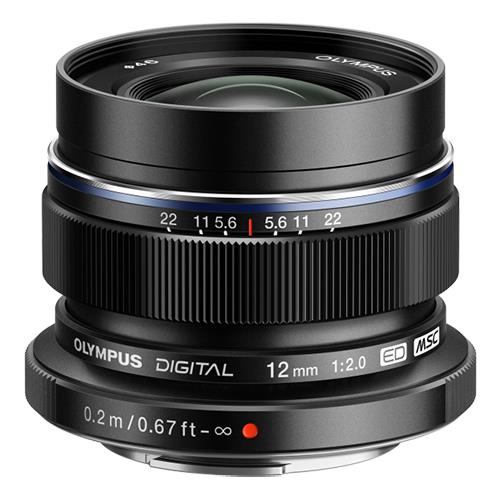 M.Zuiko Digital ED 12mm f/2.0 Lens in Black Product Image (Primary)