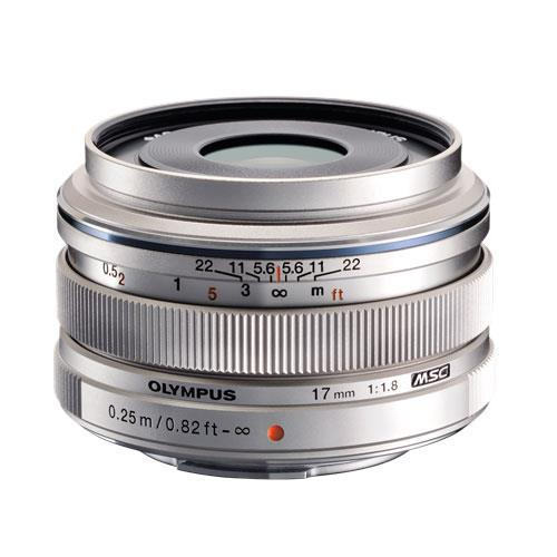 M.ZUIKO Digital 17mm f1.8 Lens in Silver Product Image (Primary)