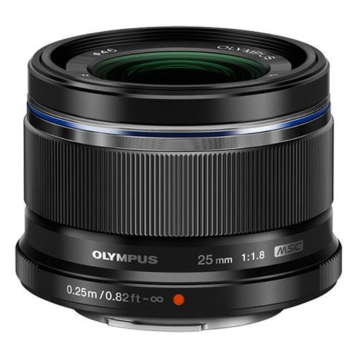 M.Zuiko Digital 25mm f/1.8 Lens in Black Product Image (Primary)
