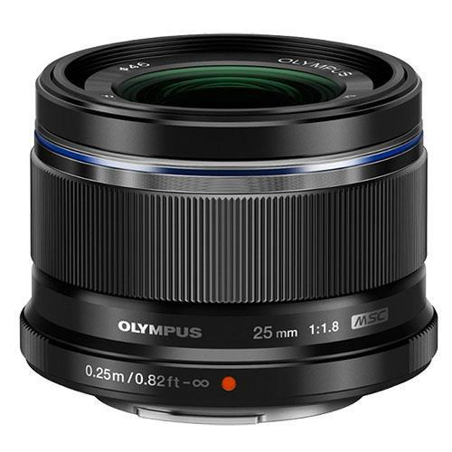 M.Zuiko Digital 25mm f/1.8 Lens in Black - Ex Display Product Image (Primary)