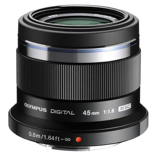 45mm f/1.8 Micro Four Thirds Lens in Black Product Image (Primary)
