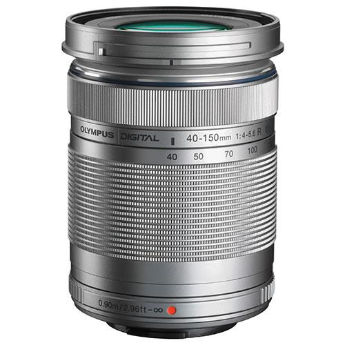M.Zuiko Digital ED 40-150mm f/4.0-5.6 R Lens in Silver Product Image (Primary)
