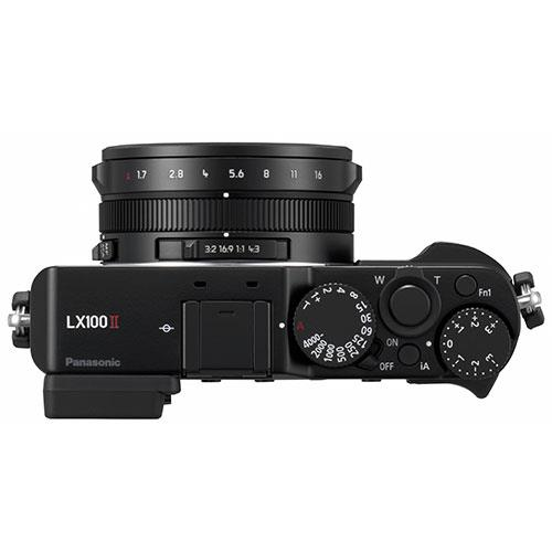 Lumix DMC-LX100 Mark II Digital Camera in Black Product Image (Secondary Image 3)