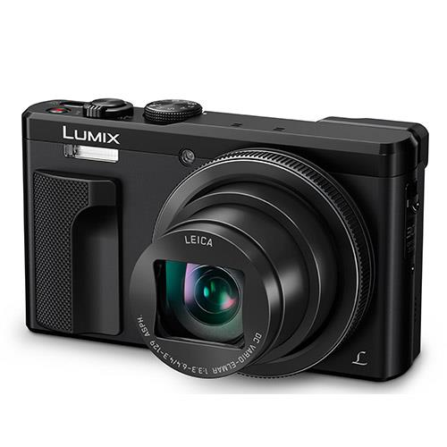 Lumix DMC-TZ80 Camera in Black Product Image (Primary)