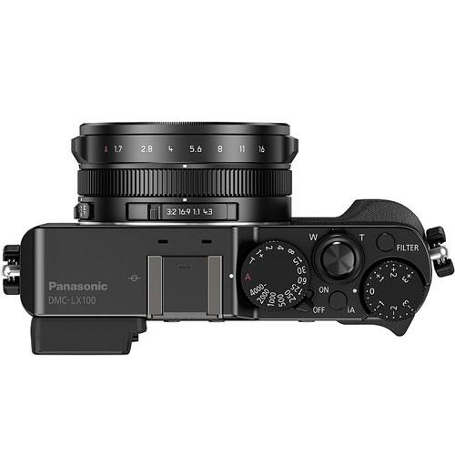 Lumix DMC-LX100 Digital Camera in Black Product Image (Secondary Image 2)