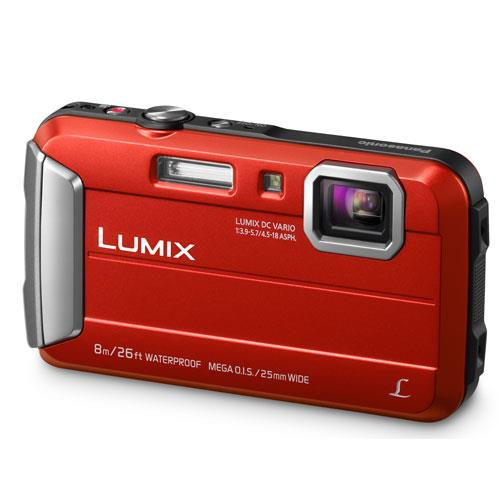 Lumix DMC-FT30 Camera in Red Product Image (Primary)