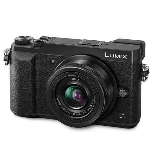 Lumix DMC-GX80 Mirrorless Camera in Black with 12-32mm and 25mm Lenses Product Image (Secondary Image 1)