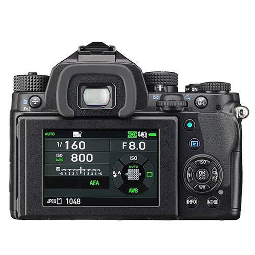 KP Digital SLR in Black with HD DA 18-50mm WR Lens Product Image (Secondary Image 1)