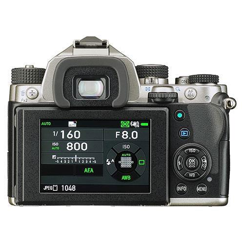 KP Digital SLR in Silver with HD DA 18-50mm WR Lens Product Image (Secondary Image 1)