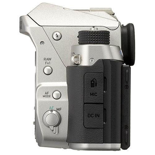 KP Digital SLR in Silver with HD DA 18-50mm WR Lens Product Image (Secondary Image 3)