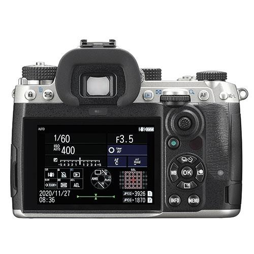 K-3 Mark III Digital SLR Body in Silver Product Image (Secondary Image 1)