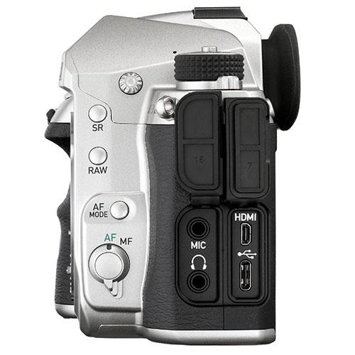 K-3 Mark III Digital SLR Body in Silver Product Image (Secondary Image 3)