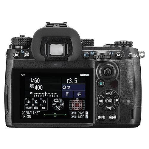 K-3 Mark III Digital SLR Body in Black with Grip and Spare Battery Product Image (Secondary Image 2)