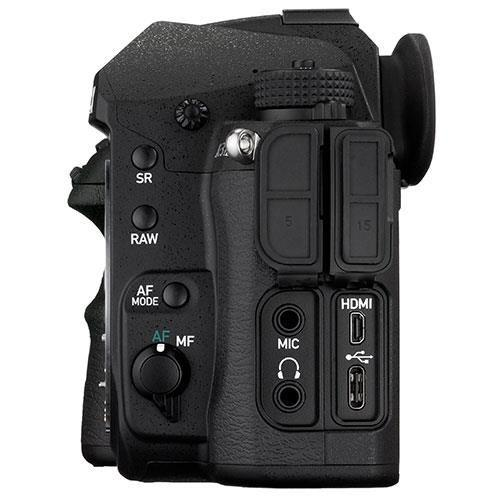 K-3 Mark III Digital SLR Body in Black with Grip and Spare Battery Product Image (Secondary Image 4)