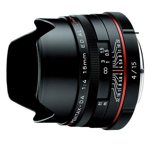 DA 15mm F4ED AL Lens in Black Product Image (Primary)
