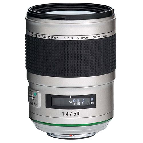 HD FA 50mm F1.4 SDM AW Silver Edition Lens Product Image (Primary)