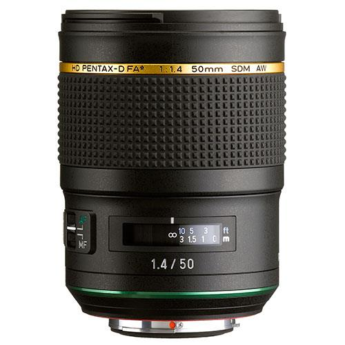 HD FA* 50mm F/1.4 SDM AW Lens Product Image (Secondary Image 1)