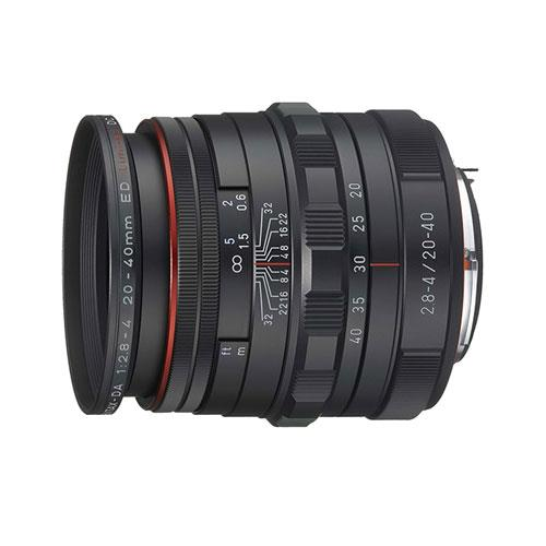 HD DA 20-40 F2.8-4 Lens in Black Product Image (Primary)