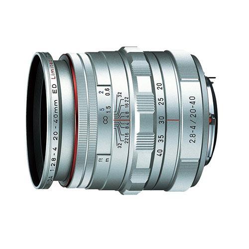 HD DA 20-40 F2.8-4 Lens in Silver Product Image (Primary)