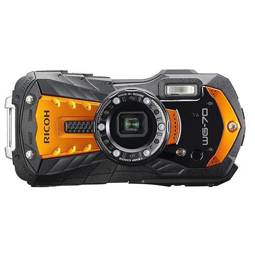 WG-70 Digital Camera in Orange Product Image (Primary)